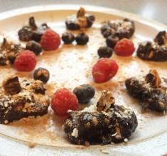 Carob, Chocolate & Cashew Bliss Bombs