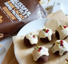 Chocolate Christmas Pudding Vegan Protein Balls