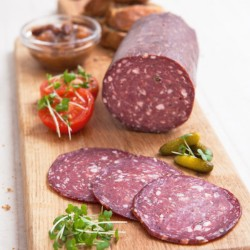 Whole Green Pepper Venison Salami