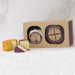 Godminster Cheddar and Oak-Smoked Combo - Round