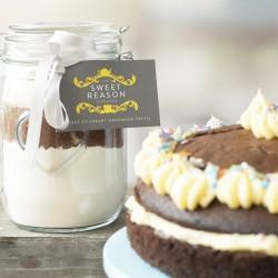 Large Gluten Free Chocolate Cake Mix Jar