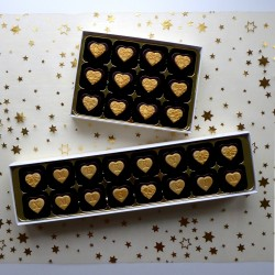 Ginger Hearts - Personalised Chocolates filled with marzipan or fondant and stem ginger