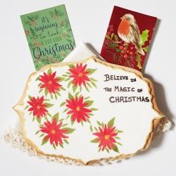 Christmas Personalised Giant Vegan Cookie