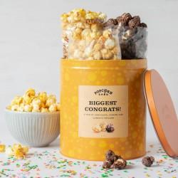 Congratulations Gourmet Popcorn Gift Tin