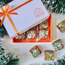 Festive Brownie Box (Box of 6)