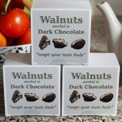 Walnuts Enrobed in Vegan Dark Chocolate | (3 boxes)
