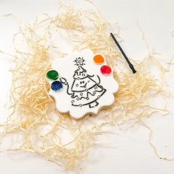 Christmas Tree Paint Your Own Cookie