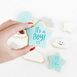 New Baby Boy Vanilla Biscuits