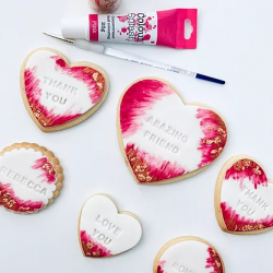 Pretty Personalised Vanilla Biscuits (6 Biscuits)