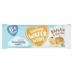 Heavenly Baby Yummy Wafer Wisps, Teething Wafers, Banana & Pumpkin (1 case containing 14 x 14g packs)