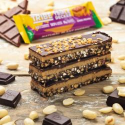 TRIBE Nut Butter Triple Decker - Choc Peanut Butter Bar - Vegan, Gluten & Dairy Free Bar (12 x 40g)
