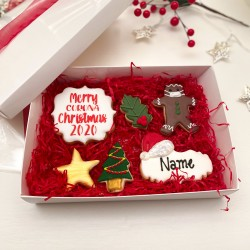 Personalised Christmas Biscuits Gift Box