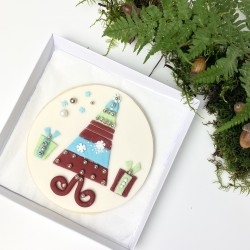 Christmas Tree Round Biscuit