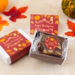 Thanksgiving Gluten Free Mini Brownie Gift Box