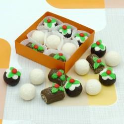 Handmade Marzipan Christmas Selection Box