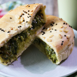 Spinach Mushroom Gourmet Pie (Vegan)