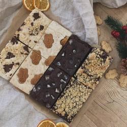 Christmas Brownie/Blondie Selection - Box of 8