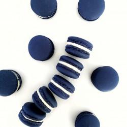 Navy Blue Macarons (Box of 6, 12, 24)