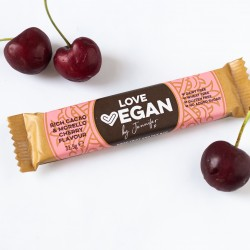 Love Vegan Rich Cacao & Morello Cherry Snack Bars (Box of 24)