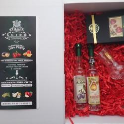 Two Bottles Mini Palinka Gift Box
