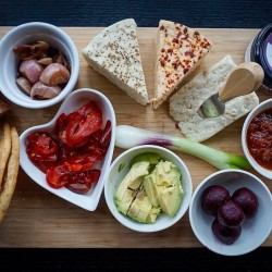 Vegan Cheese 'Board in a Box' Duo - with 2 delicious nut free vegan sourpress cheeses