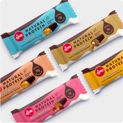Natural Protein Snack Bars - Dark Chocolate Coated Taster Box (5 Pack)
