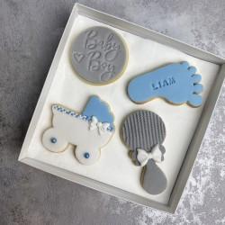 Boy Baby Shower Biscuits (Box of 4)