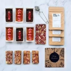 Luxury Pink Christmas Gift Box| Vegan, gluten free, dairy free, eggless