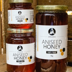 200g/500g/1kg Spanish Aniseed Honey (100% Pure/Raw/Unpasteurised) by Amalsons