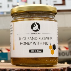 400g Spanish Thousand Flower Honey with Nuts (Pure/Raw/Unpasteurised) by Amalsons