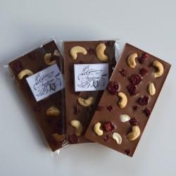 Vegan Cashew Milk chocolate with cashew nut and cranberries (set of 3)