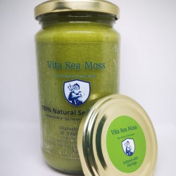 100% Natural Sea Moss Gel Infused with Moringa