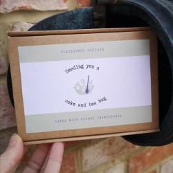 Letter Box Gift Cake & Tea Hug
