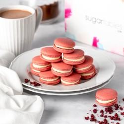 Red Velvet Vegan Macarons