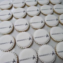 Bespoke Round Edible Logo Biscuits