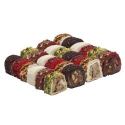 Luxury Rolls Turkish Delight   6 Flavours Assorted Box