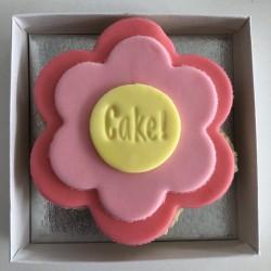 Personalised Flower Letterbox Cupcake