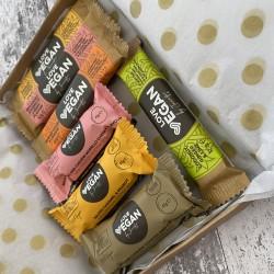 Large Letter Box Gift Pack - 3 x High Protein Bites 45g and 4 x Love Vegan Bars 32.5g