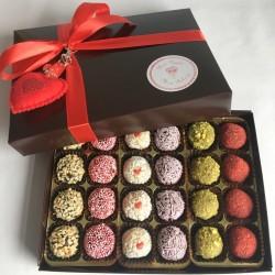 Valentine's Vegan Brigadeiro Truffles I Gift Box of 24