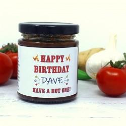 'Happy Birthday' Personalised Chilli Jam