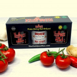 'Hot Stuff' Personalised Chilli Jam Gift Set