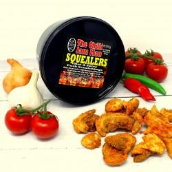 'Squealers' Spicy Pork Scratchings Tub