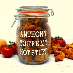 Personalised Spicy Pork Scratchings Jar