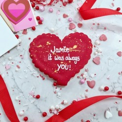 Large Personalised Valentines Day Biscuit