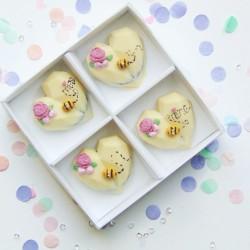 Bee Mine Chocolate Heart Oreos