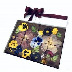 Salted Caramel Fudge-y Floral Brownies