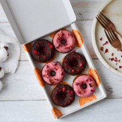 Baked Doughnuts Pink | Vegan & Refined Sugar Free (Box of 6)
