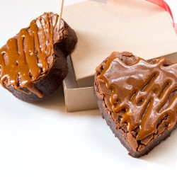 Chocolate Brownie Heart letterbox Gift