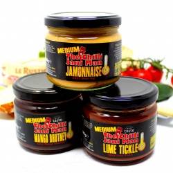 Trio Of Chilli Dipping Jars