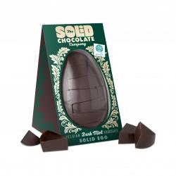 Nut Free Solid Belgian Dark Mint Chocolate Egg (750g)